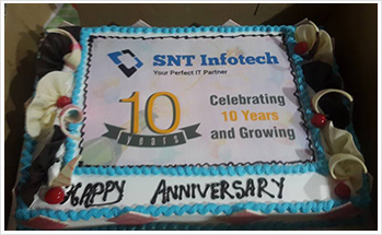 SNT 10 Years Celebration Cake